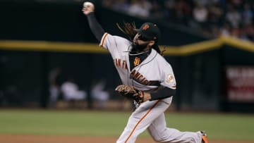PHOENIX, AZ - SEPTEMBER 25: Johnny Cueto #47 of the San Francisco Giants throws a pitch against the Arizona Diamondbacks during the fourth inning of a MLB game at Chase Field on September 25, 2017 in Phoenix, Arizona. The Giants defeated the Diamondbacks 9-2. (Photo by Ralph Freso/Getty Images)