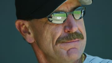 San Diego - JULY 21: Manager Bob Brenly of the Arizona Diamondbacks looks on during the game against the San Diego Padres on July 21, 2002 at Qualcomm Stadium, in San Diego, California. (Photo by Donald Miralle/Getty Images)
