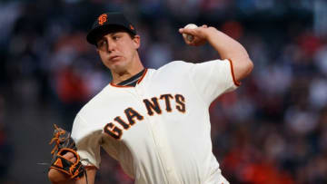 SAN FRANCISCO, CA - APRIL 09: Derek Holland #45 of the San Francisco Giants pitches against the Arizona Diamondbacks during the first inning at AT&T Park on April 9, 2018 in San Francisco, California. (Photo by Jason O. Watson/Getty Images)