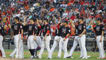 WASHINGTON, DC - JULY 15: The U.S. Team just after the SiriusXM All-Star Futures Game at Nationals Park on July 15, 2018 in Washington, DC. (Photo by Rob Carr/Getty Images)