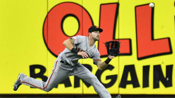 CINCINNATI, OH - AUGUST 18: Steven Duggar #6 of the San Francisco Giants chases down a fly ball in center field in the fifth inning against the Cincinnati Reds at Great American Ball Park on August 18, 2018 in Cincinnati, Ohio. (Photo by Jamie Sabau/Getty Images)