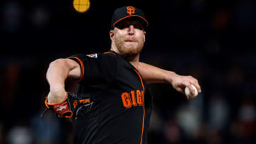 SAN FRANCISCO, CA - SEPTEMBER 15: Will Smith #13 of the San Francisco Giants pitches against the Colorado Rockies during the ninth inning at AT&T Park on September 15, 2018 in San Francisco, California. The San Francisco Giants defeated the Colorado Rockies 3-0. (Photo by Jason O. Watson/Getty Images)