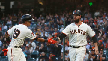 Giants first baseman Brandon Belt. (Photo by Lachlan Cunningham/Getty Images)