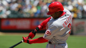 OAKLAND, CA - JUNE 20: Ken Griffey Jr. #3 of the Cincinnati Reds (Photo by Don Smith/MLB Photos via Getty Images)