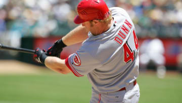 OAKLAND, CA - JUNE 20: Adam Dunn #44 of the Cincinnati Reds bats. (Photo by Don Smith/MLB Photos via Getty Images)