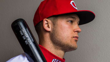 GOODYEAR, AZ - FEBRUARY 20: Nick Senzel #79 of the Cincinnati Reds poses for a portrait at the Cincinnati Reds Player Development Complex on February 20, 2018 in Goodyear, Arizona. (Photo by Rob Tringali/Getty Images)