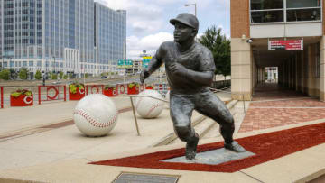CINCINNATI, OH - AUGUST 31: General view of the exterior of the ball park and Joe Morgan statue prior to a game between the Cincinnati Reds and the St Louis Cardinals. (Photo by Joe Robbins/Getty Images)