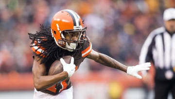 Jan 3, 2016, Cleveland, OH, USA; Cleveland Browns wide receiver Travis Benjamin (11) runs the ball during the first quarter against the Pittsburgh Steelers at FirstEnergy Stadium. Mandatory Credit: Scott R. Galvin-USA TODAY Sports