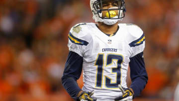 Oct 23, 2014; Denver, CO, USA; San Diego Chargers wide receiver Keenan Allen (13) during the game against the Denver Broncos at Sports Authority Field at Mile High. Mandatory Credit: Chris Humphreys-USA TODAY Sports