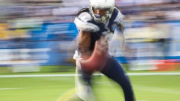 CARSON, CA - DECEMBER 09: Wide receiver Travis Benjamin #12 of the Los Angeles Chargers runs the ball in the second quarter against the Cincinnati Bengals at StubHub Center on December 9, 2018 in Carson, California. (Photo by Sean M. Haffey/Getty Images)