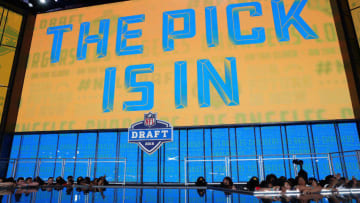 """LA Chargers """"Pick is In"""" during the 2018 NFL Draft (Photo by Tom Pennington/Getty Images)"""