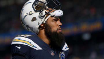 CARSON, CA - NOVEMBER 18: Keenan Allen #13 of the Los Angeles Chargers walks off the field after warm up before the game against the Denver Broncos at StubHub Center on November 18, 2018 in Carson, California. (Photo by Harry How/Getty Images)