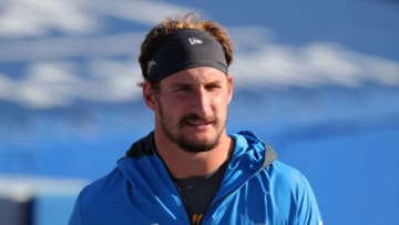 ORCHARD PARK, NY - NOVEMBER 29: Joey Bosa #97 of the Los Angeles Chargers before a game against the Buffalo Bills at Bills Stadium on November 29, 2020 in Orchard Park, New York. (Photo by Timothy T Ludwig/Getty Images)