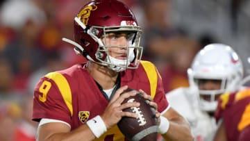 USC football quarterback Kedon Slovis (Harry How/Getty Images)
