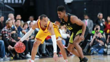USC basketball guard Jordan McLaughlin. (Leon Bennett/Getty Images)
