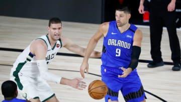 USC basketball alum Nikola Vucevic. (Kim Klement-Pool/Getty Images)