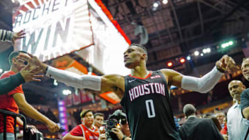 Russell Westbrook #0 of the Houston Rockets (Photo by Cato Cataldo/NBAE via Getty Images)