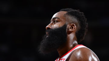 James Harden #13 of the Houston Rockets (Photo by Bart Young/NBAE via Getty Images)