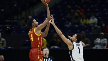 Evan Mobley #4 of the USC Trojans (Photo by Tim Nwachukwu/Getty Images)