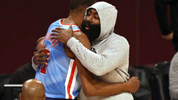 James Harden #13 of the Brooklyn Nets (Photo by Elsa/Getty Images)