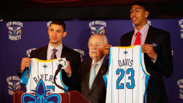 Austin Rivers Anthony Davis (Photo by Chris Graythen/Getty Images)