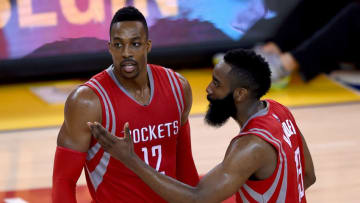 Houston Rockets James Harden Dwight Howard (Photo by Thearon W. Henderson/Getty Images)