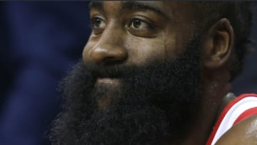 James Harden of the Houston Rockets (Photo by Rob Carr/Getty Images)