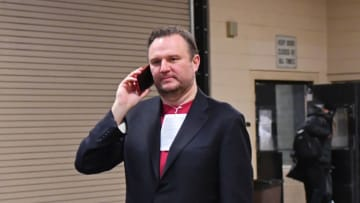 PHILADELPHIA, PA - JANUARY 21: General Manager Daryl Morey of the Houston Rockets arrives before the game against the Philadelphia 76ers on January 21, 2019 at the Wells Fargo Center in Philadelphia, Pennsylvania. NOTE TO USER: User expressly acknowledges and agrees that, by downloading and/or using this photograph, user is consenting to the terms and conditions of the Getty Images License Agreement. Mandatory Copyright Notice: Copyright 2019 NBAE (Photo by Jesse D. Garrabrant/NBAE via Getty Images)