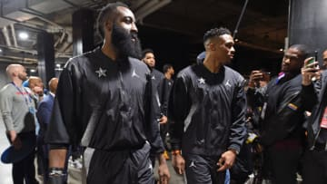 Houston Rockets James Harden Russell Westbrook (Photo by Juan Ocampo/NBAE via Getty Images)
