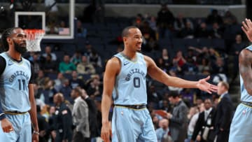 MEMPHIS, TN - MARCH 5: Avery Bradley #0 of the Memphis Grizzlies smiles on March 5, 2019 at FedExForum in Memphis, Tennessee. NOTE TO USER: User expressly acknowledges and agrees that, by downloading and or using this photograph, User is consenting to the terms and conditions of the Getty Images License Agreement. Mandatory Copyright Notice: Copyright 2019 NBAE (Photo by Joe Murphy/NBAE via Getty Images)