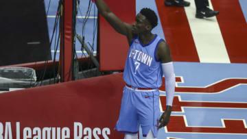 Victor Oladipo, Houston Rockets. Mandatory Credit: Troy Taormina-USA TODAY Sports