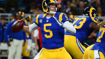 Dec 6, 2015; St. Louis, MO, USA; St. Louis Rams quarterback Nick Foles (5) passes against the Arizona Cardinals during the second half at the Edward Jones Dome. The Cardinals defeated the Rams 27-3. Mandatory Credit: Jeff Curry-USA TODAY Sports