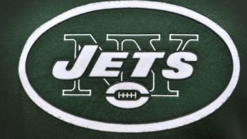 Dec 14, 2014; Nashville, TN, USA; New York Jets logo prior to the game against the Tennessee Titans at LP Field. Mandatory Credit: Jim Brown-USA TODAY Sports