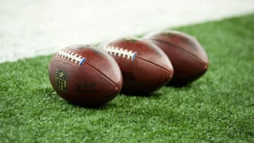 Aug 13, 2015; Detroit, MI, USA; A detailed view of a footballs before the preseason NFL football game between the Detroit Lions and the New York Jets at Ford Field. Mandatory Credit: Tim Fuller-USA TODAY Sports
