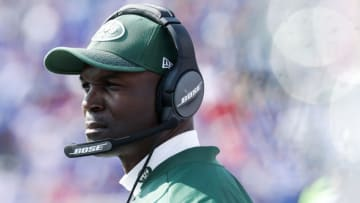 ORCHARD PARK, NY - SEPTEMBER 10: Head coach Todd Bowles of the New York Jets during the second half against the Buffalo Bills on September 10, 2017 at New Era Field in Orchard Park, New York. (Photo by Tom Szczerbowski/Getty Images)