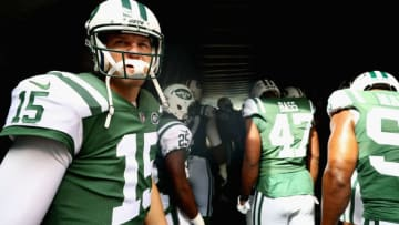 EAST RUTHERFORD, NJ - OCTOBER 15: Quarterback Josh McCown #15 of the New York Jets looks on from the tunnel before heading onto the field prior to the start of the first quarter against the New England Patriots at MetLife Stadium on October 15, 2017 in East Rutherford, New Jersey. (Photo by Al Bello/Getty Images)