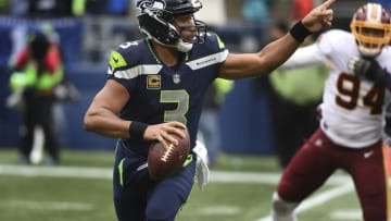 SEATTLE, WA - NOVEMBER 05: Quarterback Russell Wilson #3 of the Seattle Seahawks runs out of the pocket during the second quarter of the game against the Washington Redskins at CenturyLink Field on November 5, 2017 in Seattle, Washington. The Redskins won 17-14. (Photo by Steve Dykes/Getty Images)