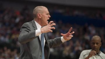 Mar 9, 2016; Dallas, TX, USA; Dallas Mavericks head coach Rick Carlisle yells at his team during the second half against the Detroit Pistons at the American Airlines Center. The Pistons defeat the Mavericks 102-96. Mandatory Credit: Jerome Miron-USA TODAY Sports