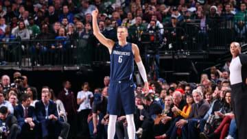 Dallas Mavericks Kristaps Porzingis Copyright 2019 NBAE (Photo by Glenn James/NBAE via Getty Images)