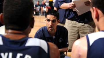 LAS VEGAS, NV - JULY 16: Kaleb Canales of the Dallas Mavericks speaks to the team during a game the NBA D-League Select on July 16, 2015 at The Cox Pavilion in Las Vegas, Nevada. NOTE TO USER: User expressly acknowledges and agrees that, by downloading and or using this photograph, User is consenting to the terms and conditions of the Getty Images License Agreement. Mandatory Copyright Notice: Copyright 2015 NBAE (Photo by Bart Young/NBAE via Getty Images)