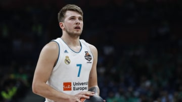 BELGRADE, SERBIA - MAY 18: Luka Doncic of Real Madrid in action during the Turkish Airlines Euroleague Final Four Belgrade 2018 Semifinal match between CSKA Moscow and Real Madrid at Stark Arena on May 18, 2018 in Belgrade, Serbia. (Photo by Srdjan Stevanovic/Getty Images)