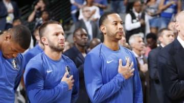 Dallas Mavericks J.J. Barea Devin Harris Copyright 2017 NBAE (Photo by Danny Bollinger/NBAE via Getty Images)