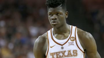 AUSTIN, TX - JANUARY 27: Mohamed Bamba #4 of the Texas Longhorns prepares to shoot a free throw against the Mississippi Rebels at the Frank Erwin Center on January 27, 2018 in Austin, Texas. (Photo by Chris Covatta/Getty Images)