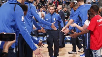 DALLAS, TX - MARCH 22: J.J. Barea #5 of the Dallas Mavericks is introduced prior to them game against the Utah Jazz on March 22, 2018 at the American Airlines Center in Dallas, Texas. NOTE TO USER: User expressly acknowledges and agrees that, by downloading and or using this photograph, User is consenting to the terms and conditions of the Getty Images License Agreement. Mandatory Copyright Notice: Copyright 2018 NBAE (Photo by Danny Bollinger/NBAE via Getty Images)