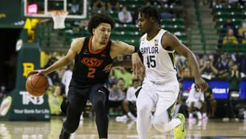 NBA Draft Cade Cunningham Davion Mitchell Mandatory Credit: Raymond Carlin III-USA TODAY Sports