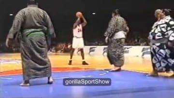 Michael Jordan's team v Sumo Wrestlers - Old footage