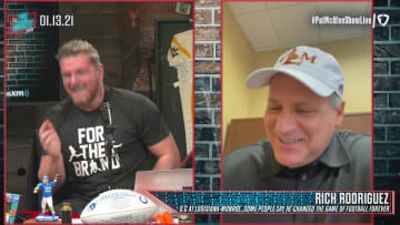 On today's episode of The Pat McAfee Show, former Indianapolis Colts punter Pat McAfee breaks down some of the biggest storylines in the National Football League after the wildcard round of the playoffs. We are onto the divisional round with the Browns vs the Chiefs, Ravens vs Bills, Packers vs Rams, and Saints vs Buccaneers. Pat welcomes guests to talk about these interesting matchups. Pat welcomes offensive coordinator from Louisiana-Monroe Rich Rodriguez to the show. Pat and Rich discuss how Rich almost went to coach at Alabama. Rich is also asked what he thinks about the current state of Alabama football and the National Championship result.