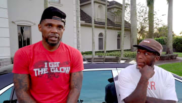 Nate Robinson visits the O.G. Udonis Haslem and his 4 cane corsos