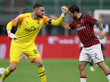 Gianluigi Donnarumma dan Davide Calabria