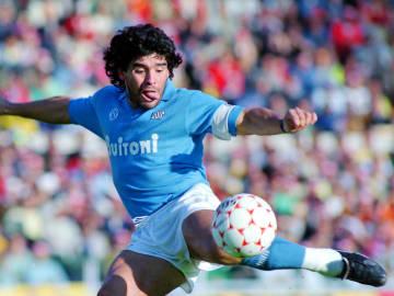 Maradona con el Napoli